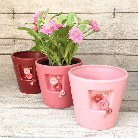 """Regali originali. Vaso con decorazione """"Sartoria"""""""