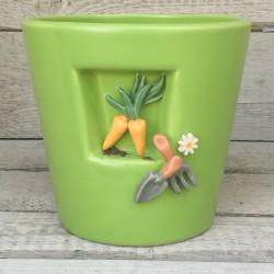 """Regali originali. Vaso con decorazione """"Giardinaggio"""""""
