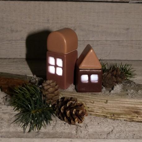 Regali per la casa. Combinazione 2 casette illuminabili