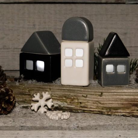 Regali per la casa. Combinazione 3 casette illuminabili