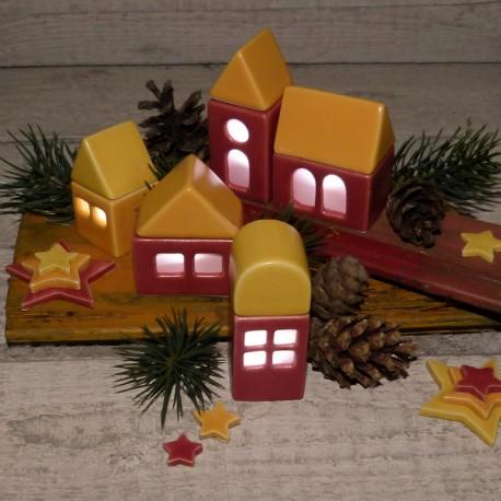 Regali per la casa. Villaggio illuminabile (3 casette + chiesa)