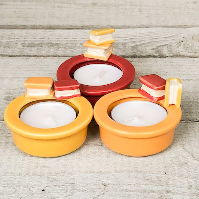 Regali per la casa porta tealight con decorazione libro - Regali per casa ...