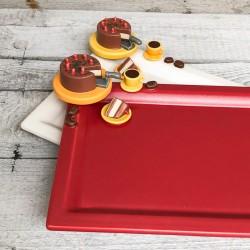 Rechteckige Kuchenplatte mit Tortendekor