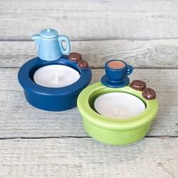 """Teelicht-Duo """"Kaffeetisch"""""""