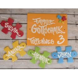 Türschild zur Kombination mit einzelnen Puzzle-Schildern