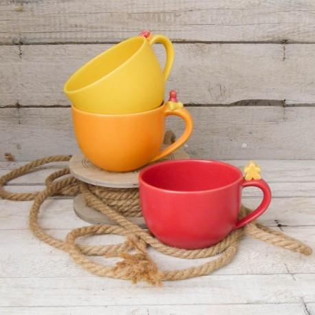 Milchkaffeetasse Spielmännchen