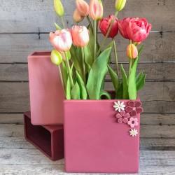 Rechteckige Vase - niedrig
