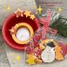 Schale mit Teelicht und Dekotüte