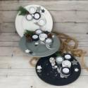 Regali di Natale. Piatto di Natale con porta-tealights (misura 2)