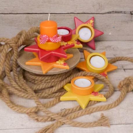 Teelicht auf Stern (klein)