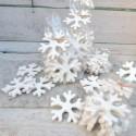 Regali di Natale. Fiocchi di neve decorativi - 8 pezzi