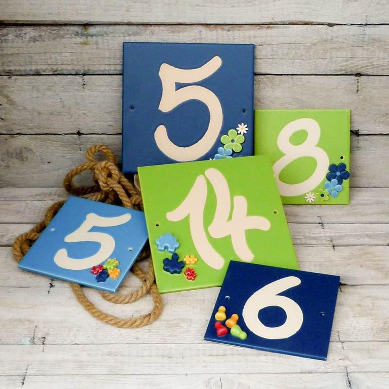 Regali per la casa targa con numero civico scritto a mano - Regali per casa ...