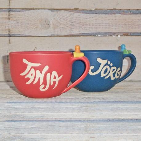 Milchkaffeetasse mit Namen