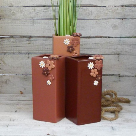 "Vase eckig ""Streublümchen"" Größe 1"