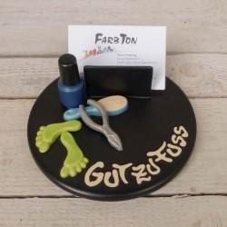 Visitenkartenhalter Fußpflege