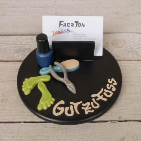 Visitenkartenhalter Fußpflege Farbton Gebrauchskeramik