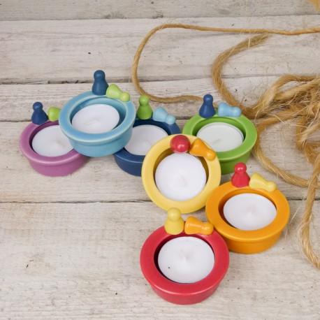 Teelicht mit Spielmännchen